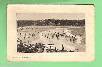 #b.  1910   Postcard - Surf Bathing  Coogee  Beach