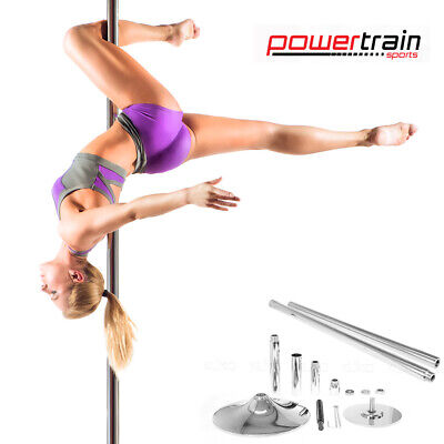 DANCE POLE PROFESSIONAL SPINNING PORTABLE STATIC YOGA FITNESS 2 x extensions