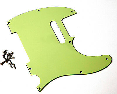 USA TL Pickguard MINT GREEN 3 PLY 2.4 mm 8 Hole fits Tele®