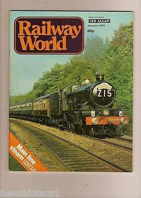 1979  RAILWAY WORLD MAGAZINES - 12 ISSUES, JANUARY  to  DECEMBER