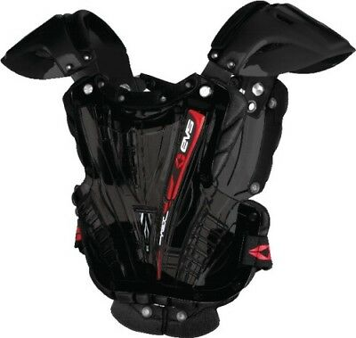 EVS Vex Chest Protector Clear/Black Adult Small Vex Roost Deflector VEXBK-S