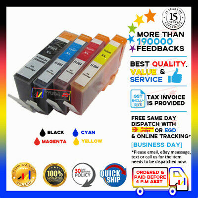 5x Ink Cartridges HP 564XL for Photosmart B109 B110 B209 B210 Printer with Chip
