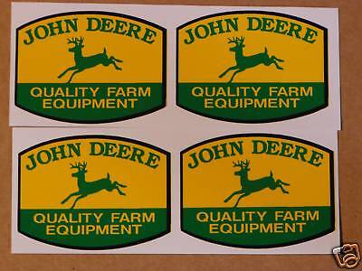 4 JOHN DEERE 2 inch QFE DECALS Adhesive Backed, Tractor Computer Cut   J1987
