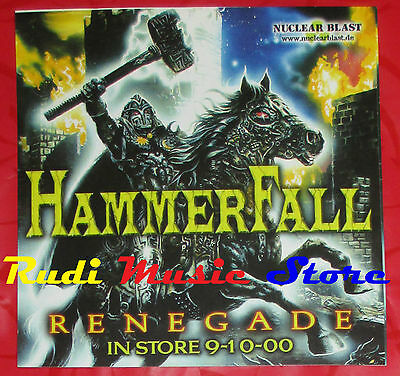 ADESIVO STICKER HAMMERFALL Renegade 12X12 CM cd dvd lp mc vhs promo live