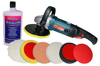 Silverline Mop Trade Car Polisher Kit + 7 Heads + One Step Awesome Renovator