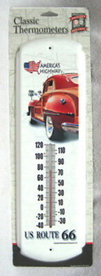 America's Highway Route 66 Woody Nostalgic Metal Alcohol Thermometer, New!