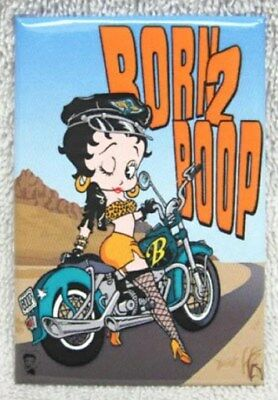Betty Boop - Born 2 Boop Metal Motorcycle Magnet, New!!