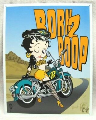 Betty Boop Born 2 Boop Metal Sign, New!
