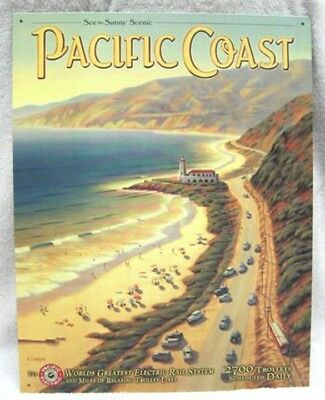 Pacific Coast Electric Rail System - Metal Sign - New!
