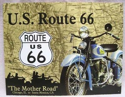 """Route 66 & Indian Motorcycle """"the Mother Load"""" Sign!"""