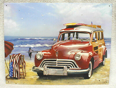 Surfin Usa & Woody Metal Sign - By Scott Westmoreland