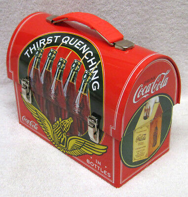 Thirst Quenching Coca-Cola Workman Lunch Box Tin,  Classic Retro Design - New!