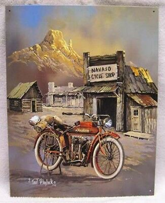 Vintage Indian Motorcycle Metal Sign By Blaylock, New!