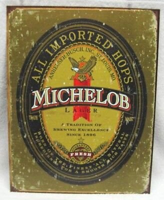 Vintage Style Michelob All Imported Hops - Beer Metal Sign New