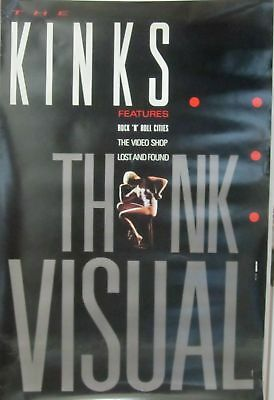 The Kinks - THINK VISUAL Poster [1986]  VG+  Version 2