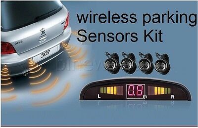 Wireless Parking Reversing Buzzer Alarm System with LED displayer 4 rear sensors