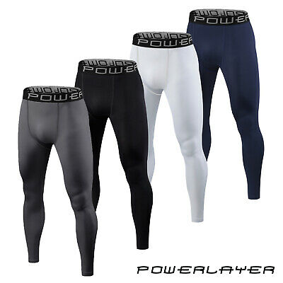 Mens Boys Compression Baselayer Running Tights Bottoms Thermal Under Gear Skins