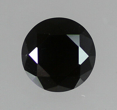 Black Round Cubic Zirconia Size Choice 1mm, 2mm, 3mm, 4mm, 5mm, 6mm, 7mm, 8mm CZ