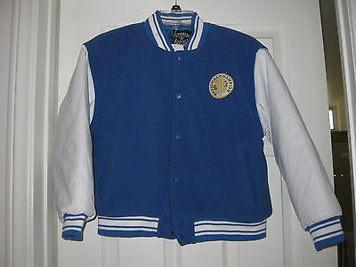 Boys Size 12-14 Sacred Cult Blue Suade Jacket New With Tags National Champion M
