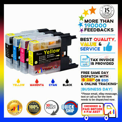 12x YYUDA INK for BROTHER LC73 LC77XL HIGH YIELD MFC J6510/6710/6910DW Printer