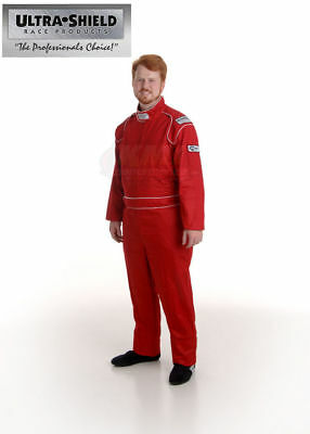 ULT 30062 Red 3XL Single Layer 1pc Race Driving Fire Suit SFI 3.2A/1 Rated