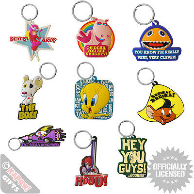 PVC Keyrings Choice Of Designs Cool Funky Gifts For Him Her Retro TV Films