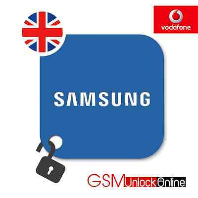 Unlock Code For UK Vodafone Samsung Galaxy Note 4 5 8 S4 S5 S6 S7 Edge S8 Plus