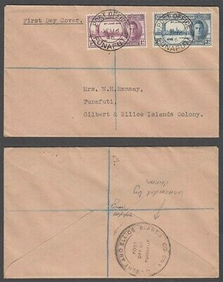 Gilbert & Ellice Is 1946 Victory Fdc Unrecorded(?) Cancel (Id:153/d20893)