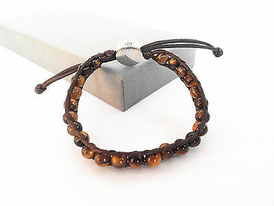 Feng Shui yellow Tiger's Eye adjustable  bracelet for  anti negative energy