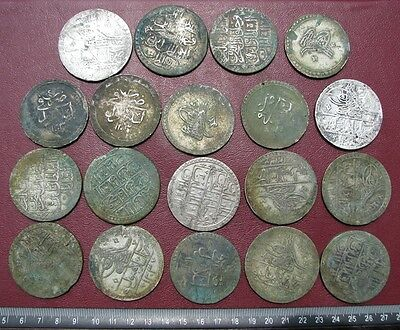Hoard of 19 Authentic Ancient HUGE Ottoman Islamic Silver Coins 1.2+ lbs  6868-B