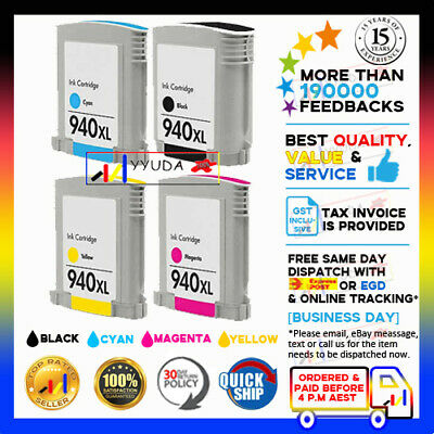4x Ink Cartridges HP 940XL HP940 for HP OfficeJet 8000 8500 WITH CHIP Printer