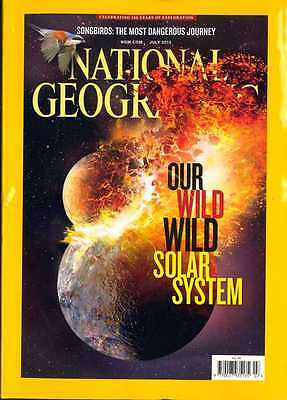 National Geographic Magazine July 2013 ~ Our Wild Solar System / Songbird