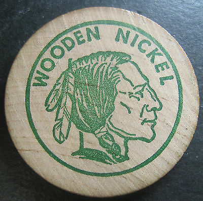 """1968 Iowa Numismatic Association """"30th Annual Convention"""" Wooden Nickel!"""