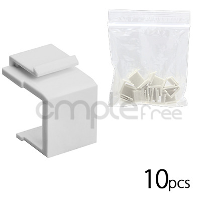 10pcs Snap-in Keystone for Wall Plate Blank Insert White NEW