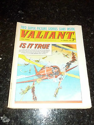 VALIANT Comic - Date 07/02/1970 - UK Fleetway Paper Comic