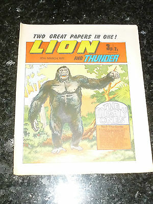 LION & THUNDER Comic (1971) - Date 20/03/1971 - UK Paper Comic