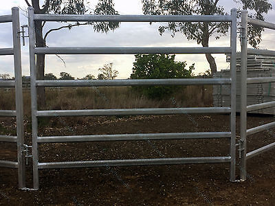 Portable Yard Panel Heavy Duty 6 Oval Rail - Cattle  Yards Horse Panels Round
