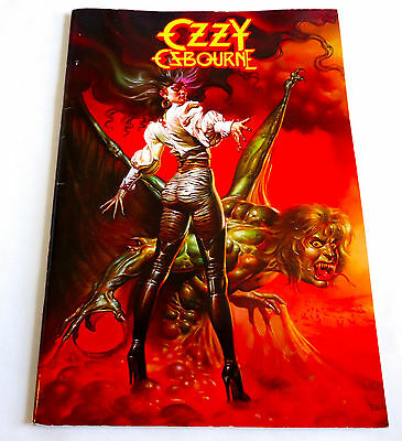 OZZY OSBOURNE JAPAN TOUR CONCERT PROGRAM BOOK 1986 Jake E. Lee Black Sabbath