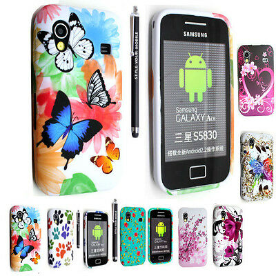 For Samsung Galaxy Ace S5830 Printed Silicone Gel Case Cover