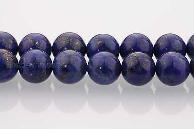 Natural Lapis Lazuli Gemstone Round Loose Spacer Beads 16'' Strand 4/6/8/10/12mm