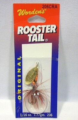 Wordens Yakima Bait 1/16 oz Crawdad Rooster Tail Fishing Spinning Lure