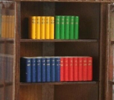Dolls House Miniature 1/12th Scale Books/Blocks/Library -Bright Colours or Dark