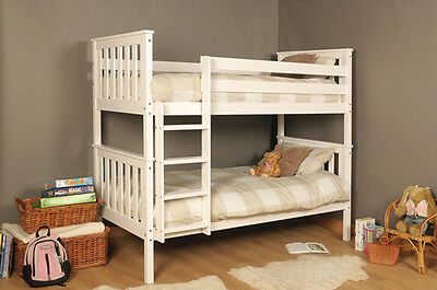 Premium Wooden Bunk - Wembdon - Pine Bunk In 3 Colours With Mattress Option