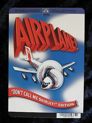 AIRPLANE movie backer card (this is not a dvd) LESLIE NIELSON (b)