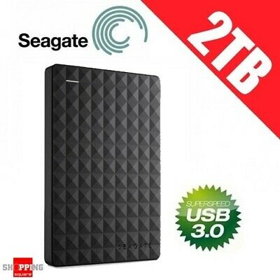 Seagate Expansion 2TB USB 3.0 Portable External Hard Drive Disk HDD PC *AU WTY*