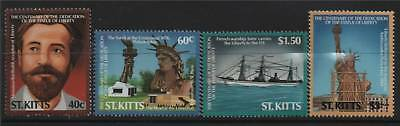 St Kitts 1986 Statue Liberty SG 215/8 MNH