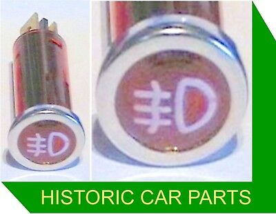 RED REAR FOG Lights ON - Warning lamp with Icon 1960-80s