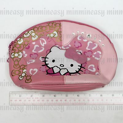 Pink Hello Kitty Mirror Cosmetic Makeup Pouch Coin Wallet Bag Purse