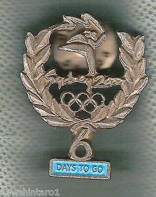 #P10.  Sydney 2000 Olympic Countdown Pin - 6  Days To Go, Pewter