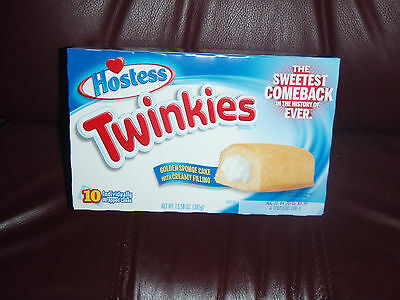 Hostess New Twinkies 10 Twinkies To A Box Ship Worldwide